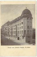 ST. GALLEN Hotel Johannes Kessler Hospiz Gel. 1914 N. Zürich Wollishofen - SG St. Gallen