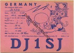 QSL - Funkkarte - DJ1SJ - Raunheim - 1958 - Amateurfunk