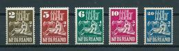 1950 Netherlands Complete Set Kerken In Oorlogstijd Mint Hinged/ongebruikt Met Plakker/neuf Avec Charniere - Periode 1949-1980 (Juliana)