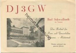 QSL - Funkkarte - DJ3GW - Bad Schwalbach - 1956 - Amateurfunk