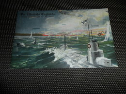 Guerre ( 210 ) Oorlog 1914 - 1918 Die Blokade Englands - Bateau De Guerre Boot Oorlogsboot  Zeppelin - Guerra 1914-18