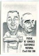 VEYRI - FIGEAC - Carte Du 6éme Congrès Cartophile 1988 - Tirage Limité - Voir Scan - Veyri, Bernard
