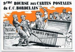 VEYRI - Carte Pirate Du 9ème Salon De PESSAC - 1988 - Tirage Limité - Voir Scan - Veyri, Bernard