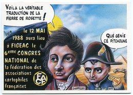 VEYRI - FIGEAC - Champollion - CP Du 5ème Congrés FACF - 1988 - Tirage Limité - Voir Scan - Veyri, Bernard