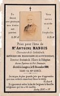 Faire-part De Décès - Mémento - Abbé Antoine Manois - Langres (52) - 13 Décembre 1880 - Overlijden