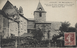 X120232 AVEYRON MUR DE BARREZ EGLISE DU XIV° SIECLE - France
