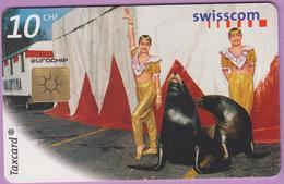 Télécarte Suisse °° SE.54. Les Otaries - 10CHF - Gem2 - 04.1999 - R. - Suisse