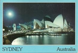 "Sydney (NSW, Australia) Opera House At Night, Notturno, La Nuit, Thematic Stamp ""Squash"" - Sydney"