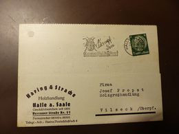 Postkarte Halle Kartoffelkäfer 1940 #cover4300 - Brieven En Documenten