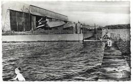 40-BISCARROSSE-La Baignade Et Hangar à Hydravions LATECOERE...  1955  Animé - Biscarrosse