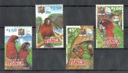 B094 KINGDOM OF TONGA FAUNA BIRDS PARROTS 1SET MNH - Parrots
