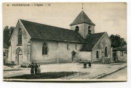 CPA 10 : PROVERVILLE   église    A  VOIR  !!!!!!! - Other Municipalities