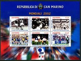 SAN MARINO 2002** - FIFA World Cup 2002 - Block Di 6 Val. MNH, Come Da Scansione - Coppa Del Mondo