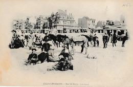 Malo Les Bains Dunkerque Vue De La Plage , Les ânes ; éditeur Falciny Avant 1902 - Malo Les Bains