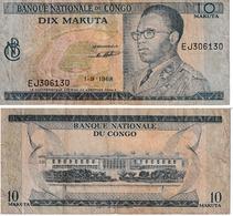 Rep.Dem.du Congo 10 Makuta - Democratic Republic Of The Congo & Zaire