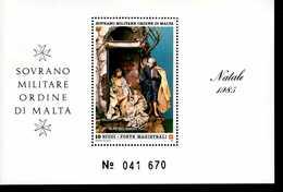 Malteser Orden SMOM Block Natal 1985  MNH Postfrisch  Neuf ** (0015) - Malta (Orden Von)