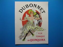 (1950) Vin Tonique Au Quinquina DUBONNET (illustrateur J. Chéret) -- Peinture Laquée RIPOLIN (illustrateur E. Vavasseur) - Pubblicitari
