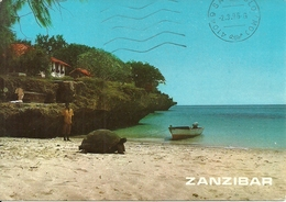 "Zanzibar (Tanzania) Giant Tortoise On Changu Island, Tartaruga, Thematic Stamp ""Judo Men Barcelona '92"" - Tanzania"