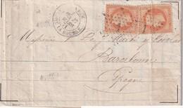 FRANCE 1871 LETTRE DE PARIS POUR BARCELONE - Marcophilie (Lettres)