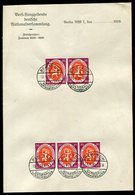 Deutsches Reich / 1919 / Mi.110 5x A.Briefbogen Der Nationalversammlung, Steg-Stempel Berlin-Nationalversammlung (3/217) - Allemagne