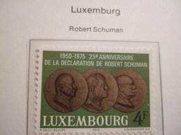 LUXEMBOURG    1975. SCHUMAN  MNH.    IS18-NVT - European Ideas