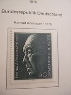 GERMANY      1976.  ADENHAUER     MNH.    IS18-NVT - Idées Européennes