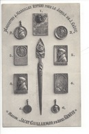21239 - Genève Plaquettes Et Médailles Jubilé De Calvin Maison Jacot Guillarmod Publicité Au Verso - GE Genève