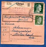 Colis Postal  - Départ Lutterbach -  9/06/1943 - Allemagne