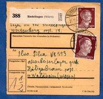 Colis Postal  - Départ Sindelfingen -- Pour Heiligenbronn -  11/11/1943 - Germany