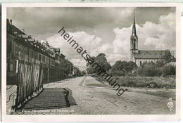 Kehl - Hauptstrasse Mit Stacheldraht - Foto-Ansichtskarte - Verlag Fotohaus K. Franz Kehl - Kehl