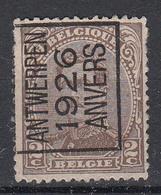 BELGIË - PREO - 1926 - Nr 127 A - ANTWERPEN 1926 ANVERS - (*) - Préoblitérés