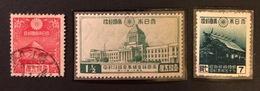 JAPON 1935-1936-1944 YT N°226-234-338 Neufs Et Oblitérés - Unused Stamps