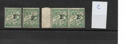 ALGERIE TAXE 1926/1928 / Lot De 4 Exemplaires 2ème Choix YT  N° 13 Non Oblitérés Neuf Gomme Médiocre  (lot C) Petit Prix - Portomarken