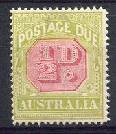 RC 10919 AUSTRALIE TAXE N° 49 - 1/2D VERT ET ROUGE FILIGRANE A SIMPLE TRAIT PERF 14 NEUF * TB - Postage Due