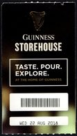 IRELAND 2018 - GUINNES STOREHOUSE - MUSEUM OF BEER - ENTRANCE TICKET - Biglietti D'ingresso