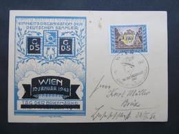 KARTE Wien - Brüx 1943 Tag Der Briefmarke  ///  D*36033 - Deutschland
