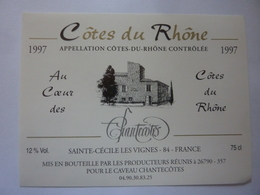 "Etichetta ""1997 COTES  DU RHONE"" - Côtes Du Rhône"