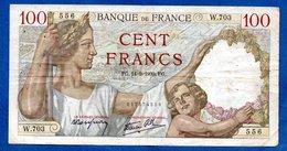Sully  -  100 Francs 14/9/1942  --  état  TB --  W .703 - 1871-1952 Circulated During XXth