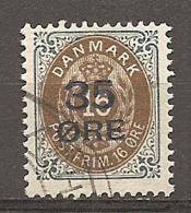 Yv. DK  N°  62   (o)  35o S 16o   Cote  50 Euro BE   2 Scans - 1905-12 (Frederik VIII)
