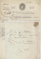 67 STRASBOURG Héraldique Armée Du Rhin Etat-Major Émigration Strasbourg An 10 - 13.10.1801 – 5e Division Militaire - Marcophilie (Lettres)