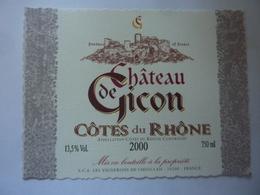 "Etichetta ""CHATEAU DE GICON 2000"" - Côtes Du Rhône"