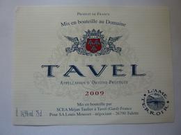 "Etichetta ""TAVEL 2009"" - Côtes Du Rhône"
