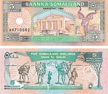 Somaliland 5 Shillings - Billets