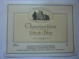 "Etichetta ""CHANTECOTES 1998"" - Côtes Du Rhône"