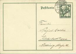 1935 Postkarte Zugunsten Deutschen Nothilfe  Stempel Kelsterbach - Ganzsachen