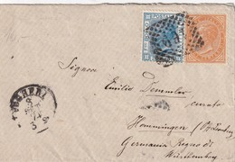 ITALIE 1874 LETTRE DE VOGHERA POUR HEMMINGEN - 1861-78 Victor Emmanuel II