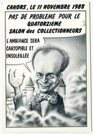 VEYRI - CAHORS - Carte Annonce Du 14éme Salon De Cahors - Alain Gillot-Pétré - Voir Scan - Veyri, Bernard
