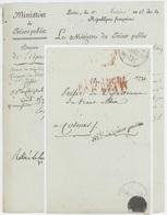 Ministre Du Trésors Public Sénéchal 1576 Paris An 12 – 30.6.1804 Directeur Des Postes Colmar - Postmark Collection (Covers)