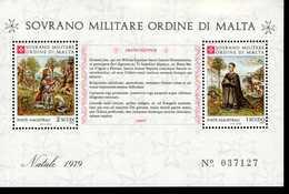 Malteser Orden SMOM Block Natal 1979  MNH Postfrisch  Neuf ** (0009) - Malta (Orden Von)
