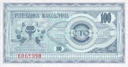 Macedonia 100 Denar 1992 Pick 4 UNC - Macédoine